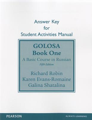 Sam Answer Key for Golosa: A Basic Course in Russian, Book One Cover Image