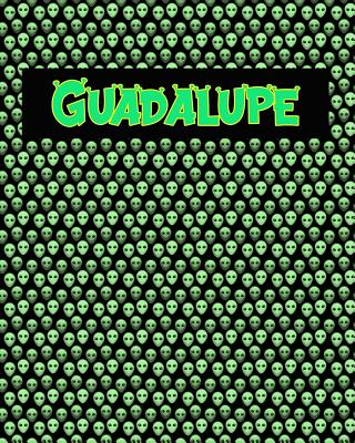 120 Page Handwriting Practice Book with Green Alien Cover Guadalupe: Primary Grades Handwriting Book Cover Image