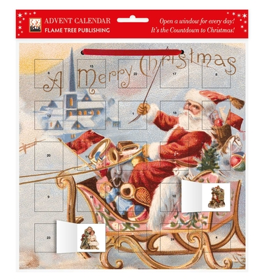 Santa's Sleigh Advent Calendar (with Stickers) Cover Image