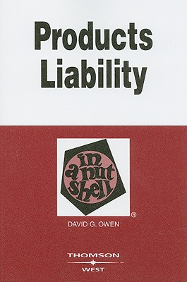 Products Liability in a Nutshell Cover Image