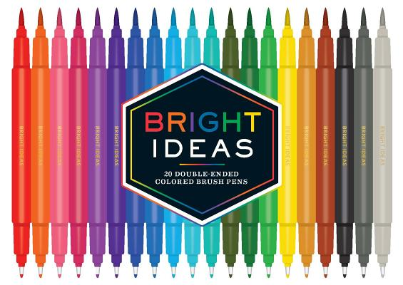 Bright Ideas: 20 Double-Ended Colored Brush Pens: (Dual Brush Pens, Brush Pens for Lettering, Brush Pens with Dual Tips) Cover Image