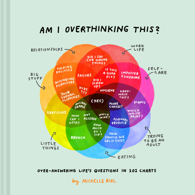 Am I Overthinking This?: Over-answering life's questions in 101 charts (Humor Books, Self Help Books, Books About Adulthood) Cover Image