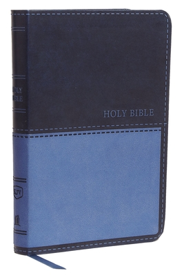 Kjv, Value Thinline Bible, Compact, Leathersoft, Blue, Red Letter Edition, Comfort Print Cover Image