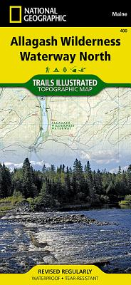 Allagash Wilderness Waterway North (National Geographic Trails Illustrated Map #400) Cover Image