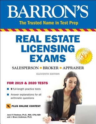 Real Estate Licensing Exams with Online Digital Flashcards (Barron's Test Prep) Cover Image