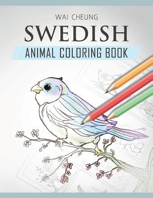 Swedish Animal Coloring Book Cover Image