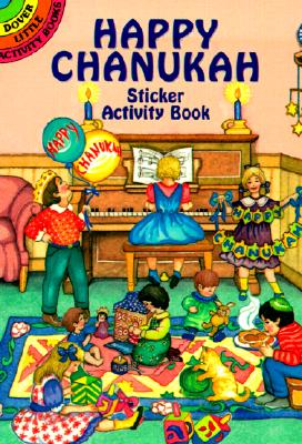 Happy Chanukah Sticker Activity Book Cover Image
