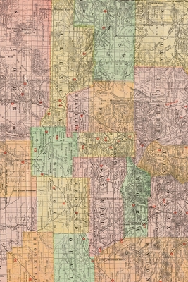 Cover for New Mexico Vintage Map Field Journal Notebook, 50 pages/25 sheets, 4x6