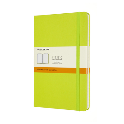 Moleskine Classic Notebook, Large, Ruled, Lemon Green, Hard Cover (5 X 8.25) Cover Image