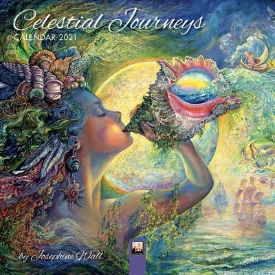 Celestial Journeys by Josephine Wall Mini Wall calendar 2021 (Art Calendar) Cover Image