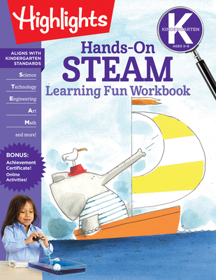 Kindergarten Hands-On STEAM Learning Fun Workbook (Highlights Learning Fun Workbooks) Cover Image