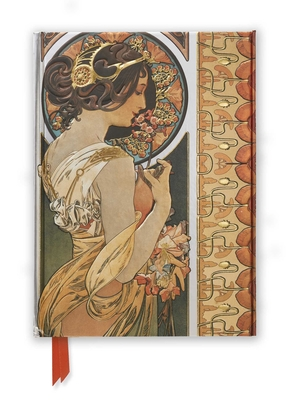 Mucha: Cowslip and Documents Decoratifs (Foiled Journal) (Flame Tree Notebooks #43) Cover Image