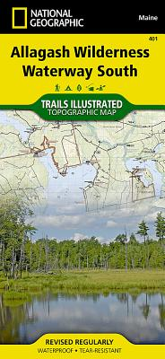 Allagash Wilderness Waterway South (National Geographic Trails Illustrated Map #401) Cover Image