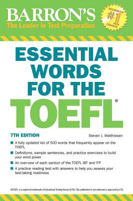 Essential Words for the TOEFL (Barron's Test Prep) Cover Image
