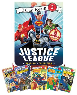 Justice League Reading Collection: 5 I Can Read Books Inside! (I Can Read Level 2) Cover Image