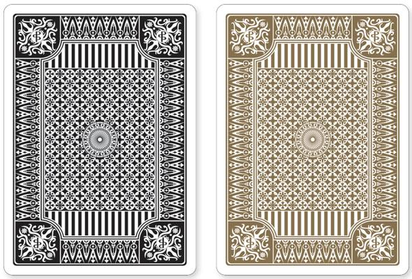 Black and Gold Premium Playing Cards, Two Standard Decks Cover Image