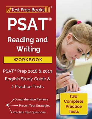 PSAT Reading and Writing Workbook: PSAT Prep 2018 & 2019 English Study Guide & 2 Practice Tests Cover Image