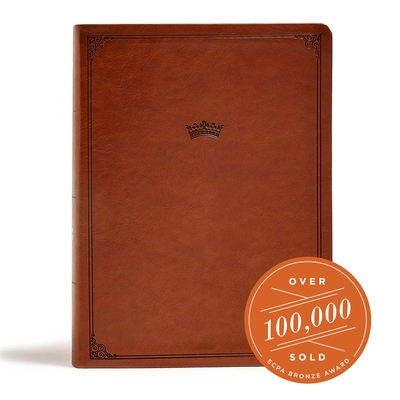 Cover for CSB Tony Evans Study Bible, British Tan LeatherTouch