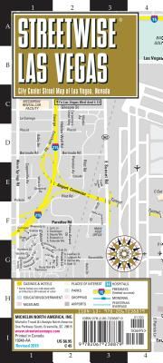 Streetwise Las Vegas Map: Laminated City Center Map of Las Vegas, Nevada (Michelin Streetwise Maps) Cover Image