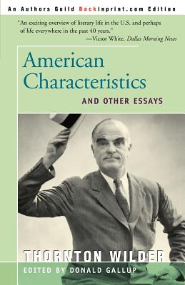 American Characteristics and Other Essays Cover
