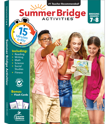 Summer Bridge Activities, Grades 7 - 8 Cover Image