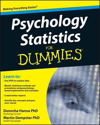 Psychology Statistics For Dummies Cover Image