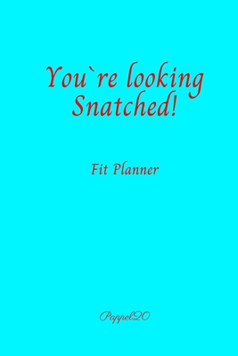 Fit Planner Cover Aqua color 200 pages 6x9 Inches Cover Image