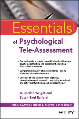 Essentials of Psychological Tele-Assessment (Essentials of Psychological Assessment) Cover Image
