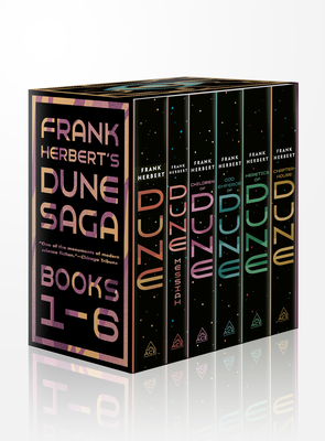 Frank Herbert's Dune Saga 6-Book Boxed Set: Dune, Dune Messiah, Children of Dune, God Emperor of Dune, Heretics of Dune, and Chapterhouse: Dune Cover Image