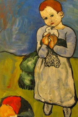 Journal: Picasso - Girl with Dove Cover Image
