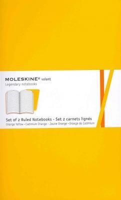 Moleskine Volant Notebook (Set of 2 ), Large, Ruled, Orange Yellow, Cadmium Orange, Soft Cover (5 x 8.25) (Volant Notebooks) Cover Image