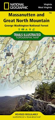 Massanutten and Great North Mountains [George Washington National Forest] (National Geographic Trails Illustrated Map #792) Cover Image