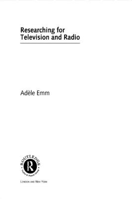Researching for Television and Radio Cover Image
