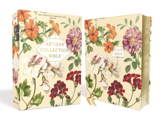 Nasb, Artisan Collection Bible, Leathersoft, Almond Floral, Red Letter Edition, 1995 Text, Comfort Print Cover Image