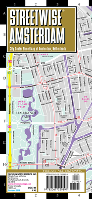 Streetwise Amsterdam Map - Laminated City Center Street Map of Amsterdam, Netherlands (Michelin Streetwise Maps) Cover Image