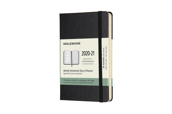Moleskine 2020-21 Weekly Planner, 18M, Pocket, Black, Hard Cover (3 x 5.5) Cover Image