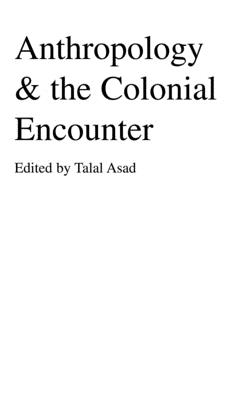Anthropology & the Colonial Encounter Cover Image