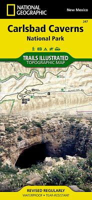 Carlsbad Caverns National Park (National Geographic Trails Illustrated Map #247) Cover Image