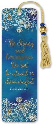 Beaded Bkmk Be Strong & Courageous Cover Image