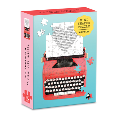 Just My Type Vintage Typewriter 100 Piece Mini Shaped Puzzle Cover Image