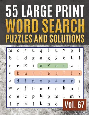 Large Print Word Search Puzzle Book activity book