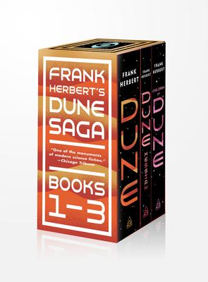 Frank Herbert's Dune Saga 3-Book Boxed Set: Dune, Dune Messiah, and Children of Dune Cover Image