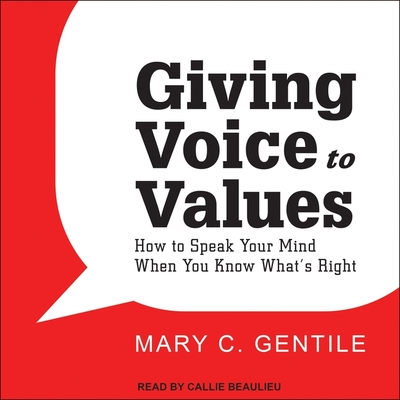 Cover for Giving Voice to Values