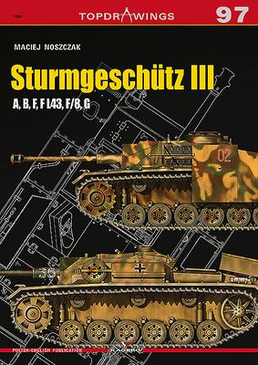 Sturmgeschütz III: A, B, F, F L43, F/8, G (Topdrawings) Cover Image