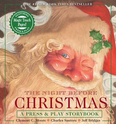 The Night Before Christmas Press & Play Storybook: The Classic Edition Hardcover Book Narrated by Jeff Bridges Cover Image