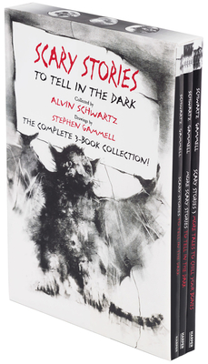 Scary Stories Paperback Box Set: The Complete 3-Book Collection with Classic Art by Stephen Gammell Cover Image