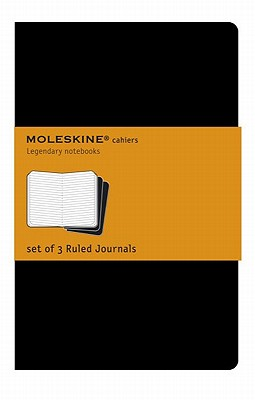 Moleskine Cahier Journal (Set of 3), Pocket, Ruled, Black, Soft Cover (3.5 x 5.5): Set of 3 Ruled Journals (Cahier Journals) Cover Image