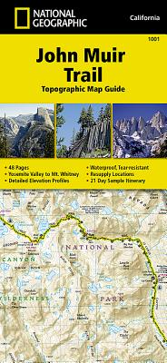 John Muir Trail Topographic Map Guide Cover Image