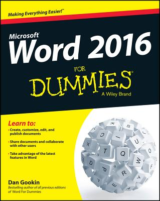 Word 2016 for Dummies Cover Image