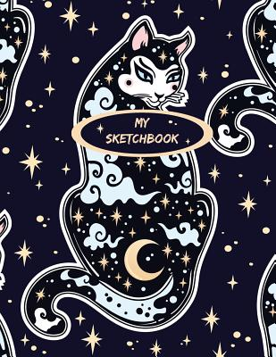 My Sketchbook: Mystic Cat: 150 Large High Quality Sketch Pages Cover Image